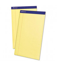 "Ampad 8-1/2"" x 14"" 50-Sheet 12-Pack Legal Rule Perforated Pads, Canary Paper"