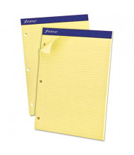 "Ampad 8-1/2"" X 11-3/4"" 100-Sheet Narrow Rule Double Sheet Pad, Canary Paper"