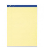 "Ampad 8-1/2"" x 11-3/4"" 50-Sheet 12-Pack Legal Rule Recycled Notepads, Canary Paper"