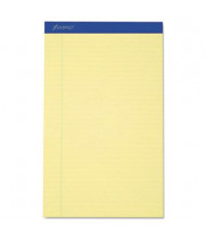 "Ampad 8-1/2"" x 14"" 50-Sheet 12-Pack Legal Rule Recycled Notepads, Canary Paper"
