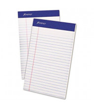 "Ampad 5"" x 8"" 50-Sheet 12-Pack Jr. Legal Rule Perforated Pads, White Paper"
