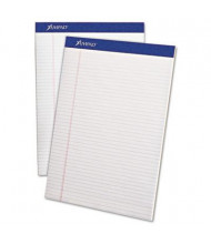 "Ampad 8-1/2"" x 11-3/4"" 50-Sheet 12-Pack Narrow Rule Perforated Pads, White Paper"