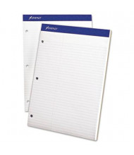 "Ampad 8-1/2"" X 11-3/4"" 100-Sheet Law Rule Double Sheet Pad, White Paper"