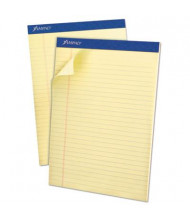 "Ampad 8-1/2"" x 11-3/4"" 50-Sheet 12-Pack Legal Rule Pastel Pads, Canary Paper"