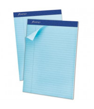 "Ampad 8-1/2"" x 11-3/4"" 50-Sheet 12-Pack Legal Rule Pastel Pads, Blue Paper"