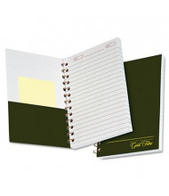 "Ampad 5"" x 7"" 100-Sheet College Rule Gold Fibre Personal Notebook, Green Cover"