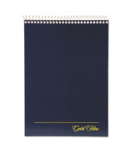 "Ampad 8-1/2"" x 11-3/4"" 70-Sheet Legal Rule Gold Fibre Wirebound Navy Pad, White Paper"