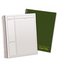 "Ampad 7-1/4"" x 9-1/2"" 84-Sheet Legal Rule Gold Fibre Wirebound Notebook, Green Cover"
