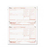 "TOPS 8-1/2"" x 5"" Carbonless W-2 Tax Form Kit, 24-Forms & Envelopes"