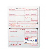 "TOPS 8-1/2"" x 5"" 4-Part Carbonless W-2 Tax Form, 50-Forms"