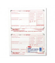 """TOPS 8-1/2"""" x 5-1/2"""" 6-Part Carbonless W-2 Tax Form, 50-Forms"""