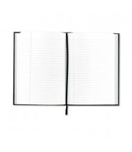 """TOPS Royale 5-7/8"""" X 8-1/4"""" 96-Sheet Legal Rule Casebound Business Notebook, Black/Gray Cover"""
