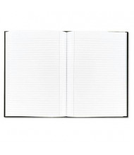 """TOPS Royale 8-1/4"""" X 11-3/4"""" 96-Sheet Legal Rule Casebound Business Notebook, Black/Gray Cover"""