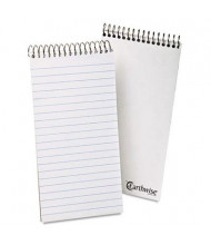 "Ampad Earthwise 4"" x 8"" 70-Sheet Gregg Rule Recycled Reporters Notepad, White Paper"