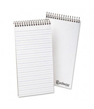 "Ampad Earthwise 4"" x 8"" 70-Sheet Pitman Rule Recycled Notepad, White Paper"