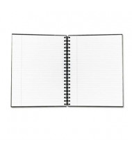 """TOPS Royale 8"""" X 10-1/2"""" 96-Sheet College Rule Wirebound Business Notebook, Black/Gray Cover"""