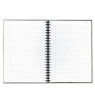 """TOPS Royale 8-1/4"""" X 11-3/4"""" 96-Sheet Legal Rule Wirebound Business Notebook, Black/Gray Cover"""