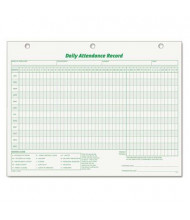"TOPS 8-1/2"" x 11"" Daily Attendance Card, 50-Forms"