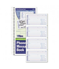 "TOPS 5"" x 2-3/4"" 2-Part Spiralbound Message Book, 600-Forms"