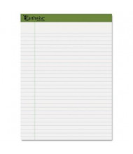 "Ampad Earthwise 8-1/2"" x 11-3/4"" 40-Sheet 4-Pack Legal Rule Recycled Pads, White Paper"