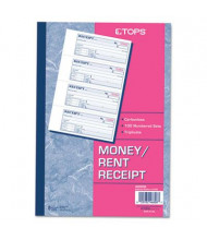 "TOPS 7-1/8"" x 2-3/4"" 100-Page 3-Part Money & Rent Receipt Book"