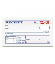 "TOPS 4-7/8"" x 2-3/4"" 50-Page 2-Part Money & Rent Receipt Book"