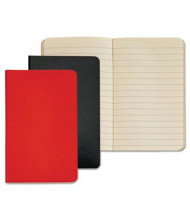 """TOPS 3-1/2"""" X 5-1/2"""" 40-Sheet 2-Pack Wide Rule Journal, Red/Black Cover"""