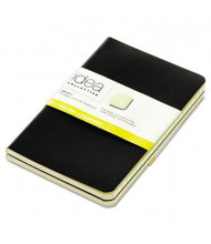 "TOPS 3-1/2"" X 5-1/2"" 40-Sheet 2-Pack Wide Rule Journal, Black Cover"