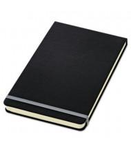"TOPS 5-1/2"" X 8-1/4"" 120-Sheet Wide Rule Journal, Black Cover"