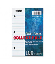 "TOPS 5-1/2"" x 8-1/2"", 100-Sheets, College Rule Filler Paper"