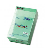 "TOPS Prism 5"" X 8"" 50-Sheet 12-Pack Jr. Legal Rule Notepads, Green Paper"
