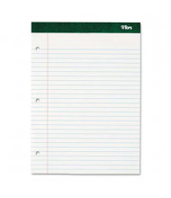 "TOPS 8-1/2"" X 11-3/4"" 100-Sheet Double Docket Legal Rule Pad, White Paper"