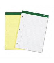 "TOPS 8-1/2"" X 11-3/4"" 100-Sheet College Rule Notepad, Canary Paper"