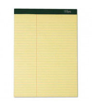 "TOPS 8-1/2"" X 11-3/4"" 100-Sheet 6-Pack Law Rule Notepads, Canary Paper"