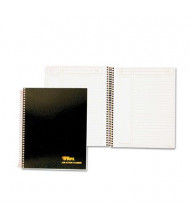 TOPS 6-3/4 x 8-1/2 84-Page Ruled Journal Entry Notetaking Planner Pad, Black Cover