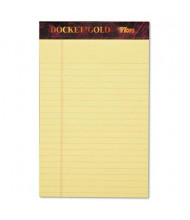 """TOPS 5"""" X 8"""" 50-Sheet 12-Pack Legal Rule Perforated Pads, Canary Paper"""