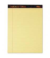 "TOPS 8-1/2"" X 11-3/4"" 50-Sheet 12-Pack Legal Rule Perforated Notepads, Canary Paper"