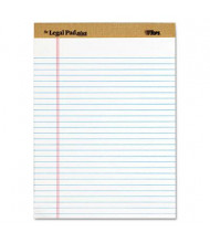 "TOPS 8-1/2"" X 11-3/4"" 50-Sheet 12-Pack Legal Rule Perforated Plus Pads, White Paper"