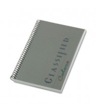"""TOPS Classified 5-1/2"""" X 8-1/2"""" 100-Sheet Legal Rule Business Notebook, Graphite Cover"""