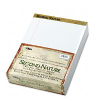 "TOPS Second Nature 8-1/2"" X 11-3/4"" 50-Sheet 12-Pack Letter Rule Pads, White Paper"