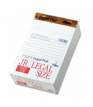 "TOPS 5"" X 8"" 50-Sheet 12-Pack Jr. Legal Rule Perforated Pads, White Paper"