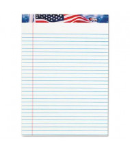 "TOPS 8-1/2"" X 11-3/4"" 50-Sheet 12-Pack Legal Rule American Pride Notepads"