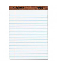 "TOPS 8-1/2"" X 11-3/4"" 50-Sheet Legal Rule Perforated Pad, White Paper"