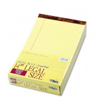 "TOPS 8-1/2"" X 14"" 50-Sheet 12-Pack Legal Rule Perforated Pads, Canary Paper"