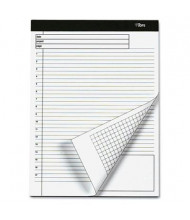 "TOPS 8-1/2"" X 11-3/4"" 40-Sheet 4-Pack Quadrille & Legal Rule Planning Notepads"
