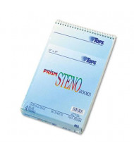 "TOPS Prism 6"" X 9"" 80-Sheet 4-Pack Gregg Rule Steno Notepads, Blue Paper"