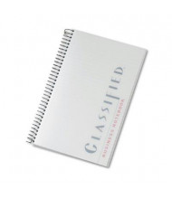 """TOPS Classified 5-1/2"""" X 8-1/2"""" 100-Sheet Legal Rule Business Notebook, Frosted Cover"""