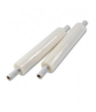 """Universal 20"""" x 1000 ft. 80-Gauge Handwrap Stretch Film with Preattached Handles, 4 Rolls/Carton"""