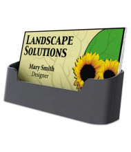 Universal Recycled Plastic Business Card Holder, Holds 50 3 1/2 x 2 Cards, Black
