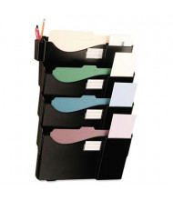 Universal Grande 4-Pocket Letter & Legal Wall File Pocket, Black
